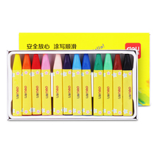 Deli quality 12 colors wax caryon setcute for school kids drawing art supply easy coloring pastel chalk best gift pen
