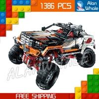 1386pcs 2in1 Technic Remote Controlled 4 X 4 Rock Crawler 20014 DIY Model Building Kit Blocks