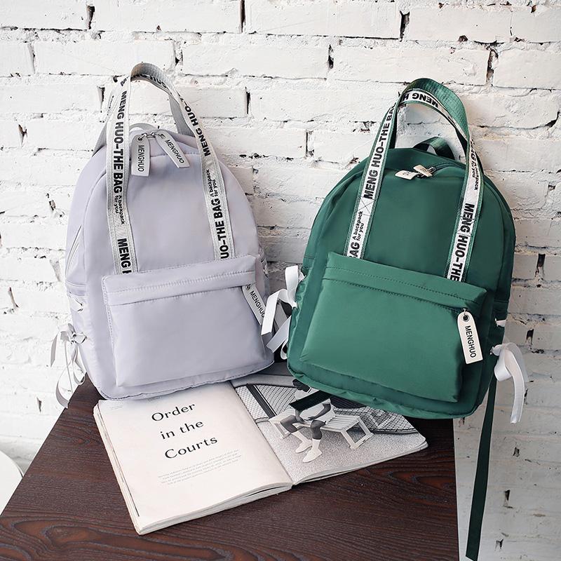 Menghuo Large Capacity Backpack Women Preppy School Bags For Teenagers Female Nylon Travel Bags Girls Bowknot Backpack Mochilas (54)