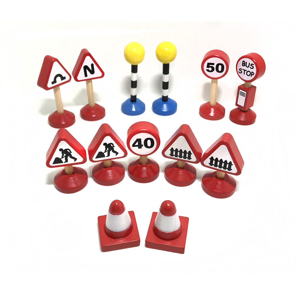 13pcs Road Sign Train Toys Railway Track Signage And Friends Car Truck Toys For Boys Models Of Construction Of Motor Toys