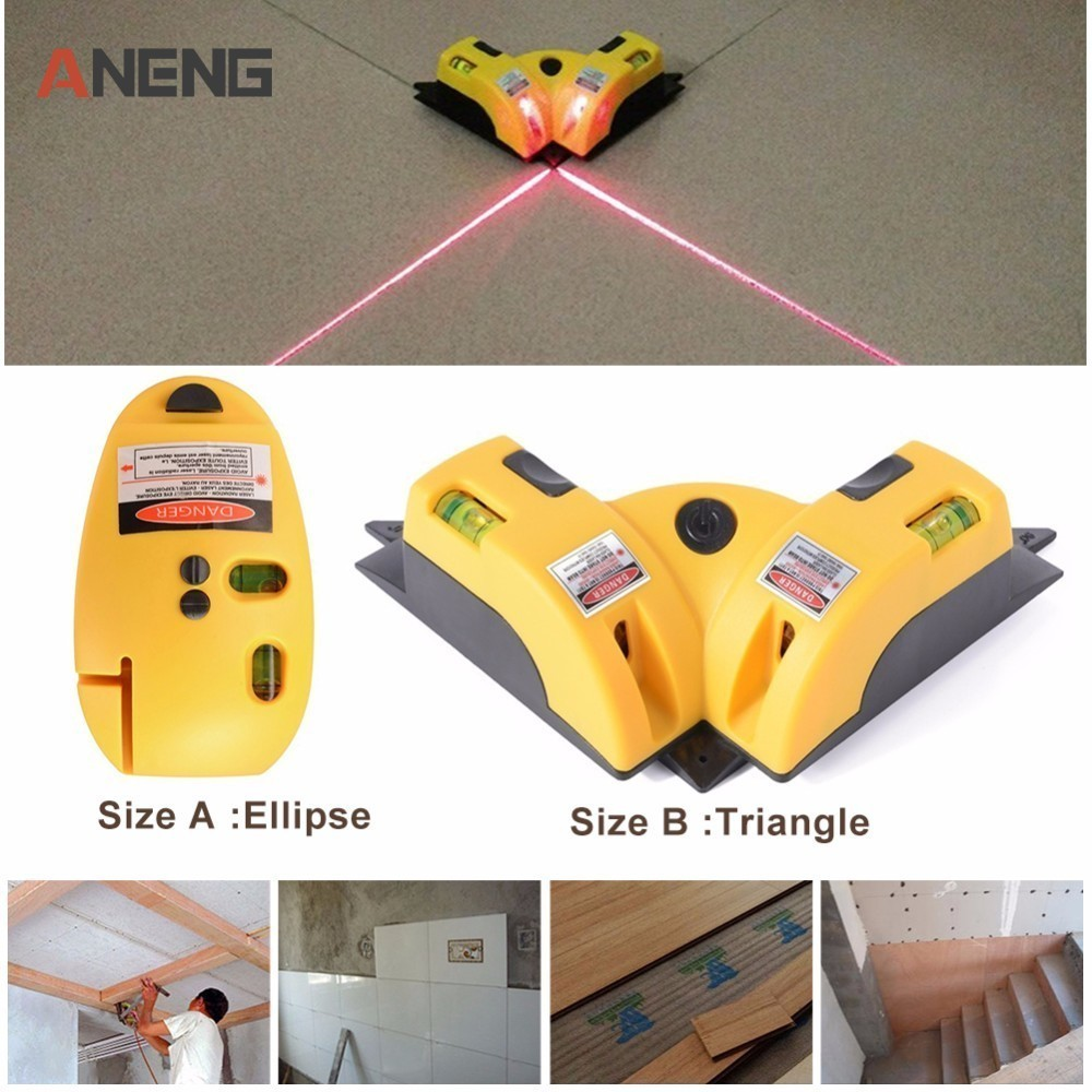 Triangle/Ellipse High Quality Pro Vertical Horizontal laser level Line Projection Square Right Angle 90 degree Measuring Tool стоимость