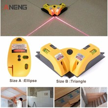 цена на Triangle/Ellipse High Quality Pro Vertical Horizontal laser level Line Projection Square Right Angle 90 degree Measuring Tool