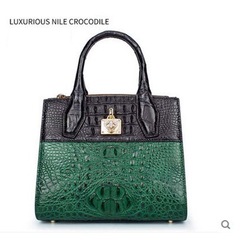 gete new crocodile women handbag Thai leather crocodile bag female European and American contracted color killer bag gete 2017 new crocodile women handbag lady thai crocodile leather women handbag lady handbag women clutch bag
