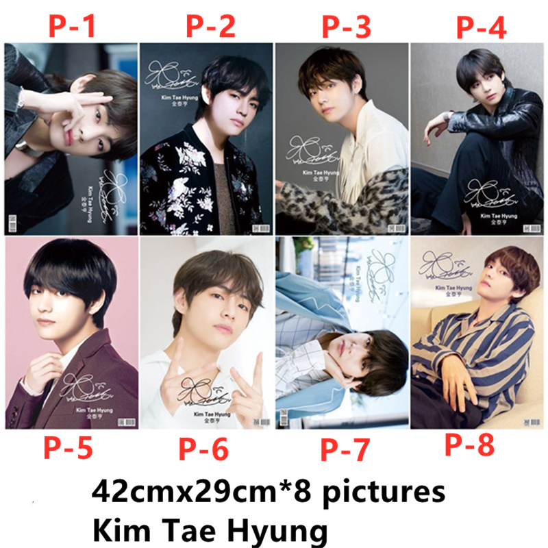 8PCS/Lot Korean Star Kim Nam Jun Min Yun Ki Park Ji Min Jimin Kim Tae Hyung Kim Seok Jin Jeong Ho Seok Jung Kook Poster Stickers