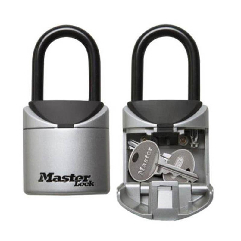 Master Lock 5406D Key Lock Box Padlock 3 Digit Combination Keys Storage Portable Lock Box Indoor Outdoor Weatherproof Safe Boxes