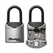 Master Lock 5406D Key Box Padlock 3 Digit Combination Keys Storage Portable Indoor Outdoor Weatherproof Safe Boxes