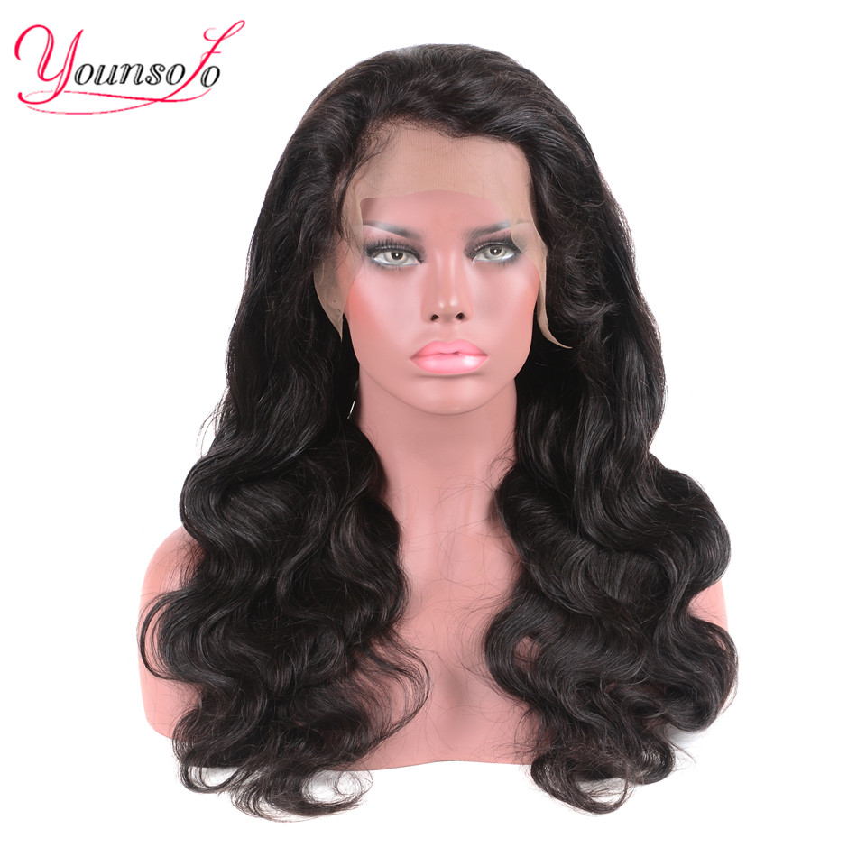 Younsolo Brazilian Body Wave Wig Lace Front Human Hair Wig For Women Pre Plucked With Baby Hair 13*4 Lace Wig Remy Hair
