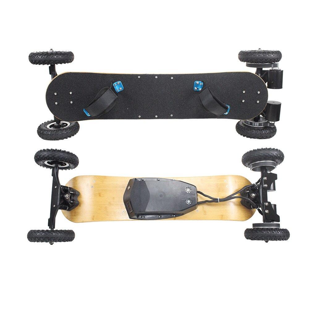 Escalade 30 degrés 4 roues planche à roulettes électrique, planche à roulettes télécommandée, planche à roulettes de montagne 1650 w
