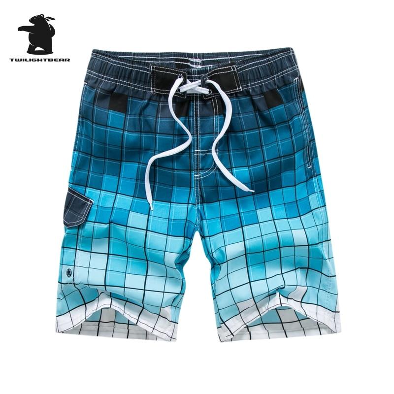 Brand Mens Shot Board Shorts New Man 2018 Summer Fashion Plaid Quick Drying Casual Beach Shorts For Men Plus Size 3XL HF1805