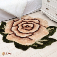 3d rose pattern carpet swivel chair silk personality computer cushion