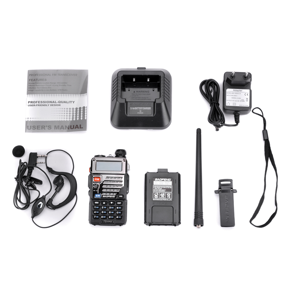 Image 5 - BaoFeng UV 5RE Walkie Talkie 10 km VHF UHF136 174Mhz&400 520Mhz Dual Band Two Way Radio UV 5R UV 5R CB Radio Ham Hf Transceiver-in Walkie Talkie from Cellphones & Telecommunications