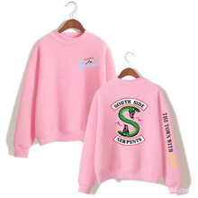 BTS Riverdale Pink Women Men Hoodies Sweatshirts Fashion Hooded Mulheres Long Sleeve Korean Sweatshirt Casual Clothing 4XL Tops