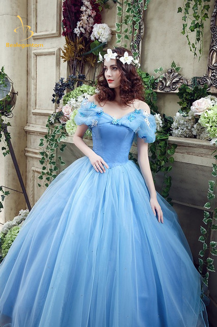 2017 Newest Sky Blue Cinderella Quinceanera Dresses Ball Gowns Sequined Sweet 16 Dress For 15 Years Vestidos De Anos Qa586
