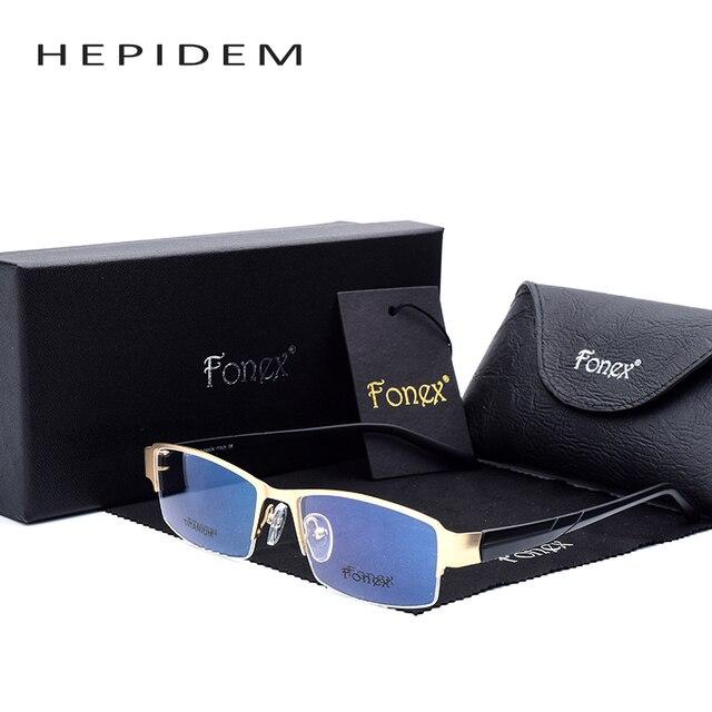 2017 TR90 HEPIDEM suqare мужчины Очки половину кадр урожай оптические марка близорукость дизайнер ясно компьютерные Очки кадры F10014
