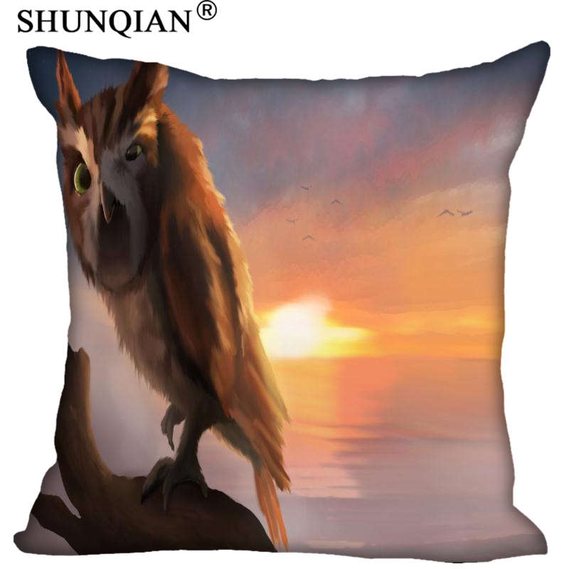 High Quality Legend of the Guardians Style throw Pillowcase Square Zippered Pillow Cover Custom Gift