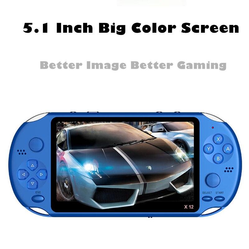 Lo más nuevo de 5,1 pulgadas portátil consola de juegos doble Joystick 8GB precargado 1000 juegos gratis soporte TV Out máquina de videojuegos - 4