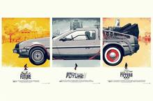 Back To The Future 1 2 3 Car Classic Movie poster Silk Fabric Wall Poster 12x18 inch Prints(China)