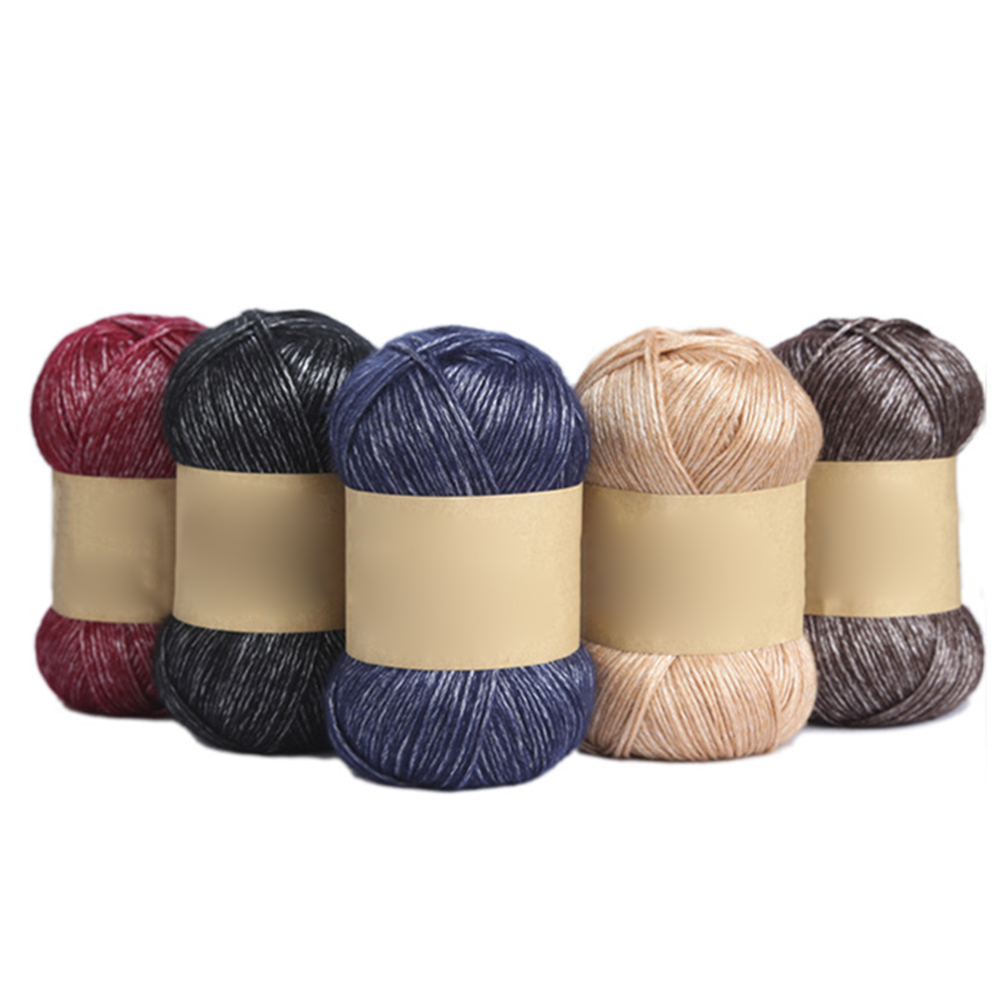 100g Pure Color Knitting Woolen Yarn Clothes Durable Sock Scarf Hat Gloves Sweater Woven Material Sock Wool Yarn for Knitting in Yarn from Home Garden
