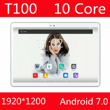 Планшет 10 дюймов Дека планшет Android 7.0 4 г LTE 4 ГБ Оперативная память 64 ГБ Встроенная память 1920×1200 IPS Две сим-карты камеры Wi-Fi 10 10.1 GPS планшет
