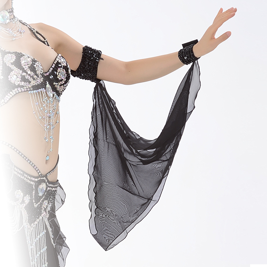 9a8592931 11 Colors Wholesale Belly Dance Costume Accessories 1 Piece Arm Sleeves  Wrist Adjustable Chiffon Sleeve Sequins Armbands-in Belly Dancing from  Novelty ...