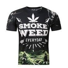 BIANYILONG Brand clothing New Fashion Men/women 3d t-shirt digital print SMOKE WEED Cool summer tops tees t shirt