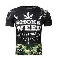 BIANYILONG marque vêtements nouvelle mode hommes/femmes 3d t-shirt impression numérique fumée mauvaise herbe Cool été hauts t-shirts t-shirt