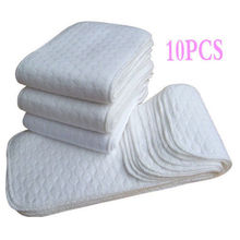 10PCS Soft Reusable Baby Cloth Diaper Nappy Liners insert 3 Layers Cotton Washable Baby care