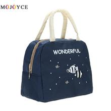 Fashion Portable Insulated Canvas font b lunch b font font b Bag b font Thermal Food