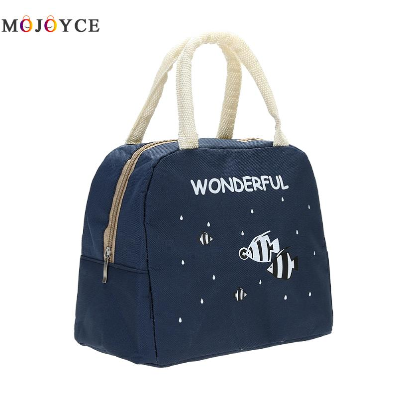 Fashion Portable Insulated Canvas lunch Bag Thermal Food Picnic Lunch Bags for Women kids Men Cooler Lunch Box Bag Tote цена
