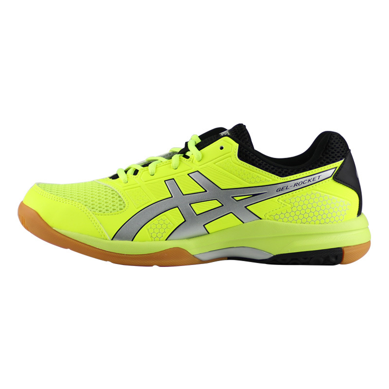 Genuine ASICS ROCKET 8 Badminton Shoes Men Zapatillas Deportivas  Anti-Slippery Breathable volleyball shoes gel technology 008f378bbae15