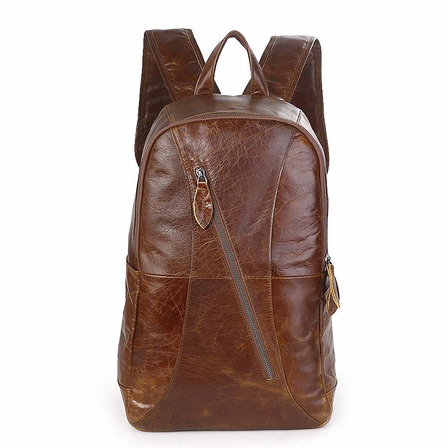 New Fashion Men's Genuine Leather Backpack Men School Backpack Bag Men's Travel Bags Leather Book bag Cowhide backpacks LI-1511