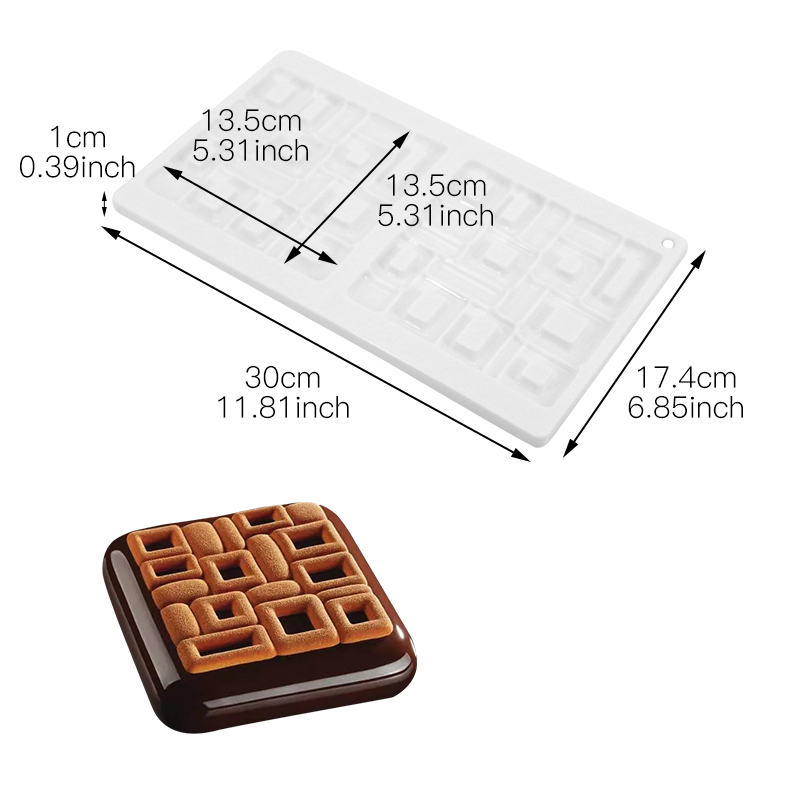 Silicone Baking Tools Irregular Shape Cake Mold For Frozen Fondant Chocolate Mou