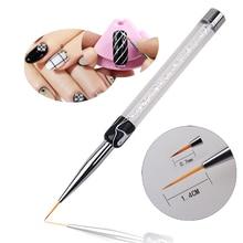 New Design Salon Using Nail Art Flower Painting Brush Pen 7mm/14mm Long Nail Tools