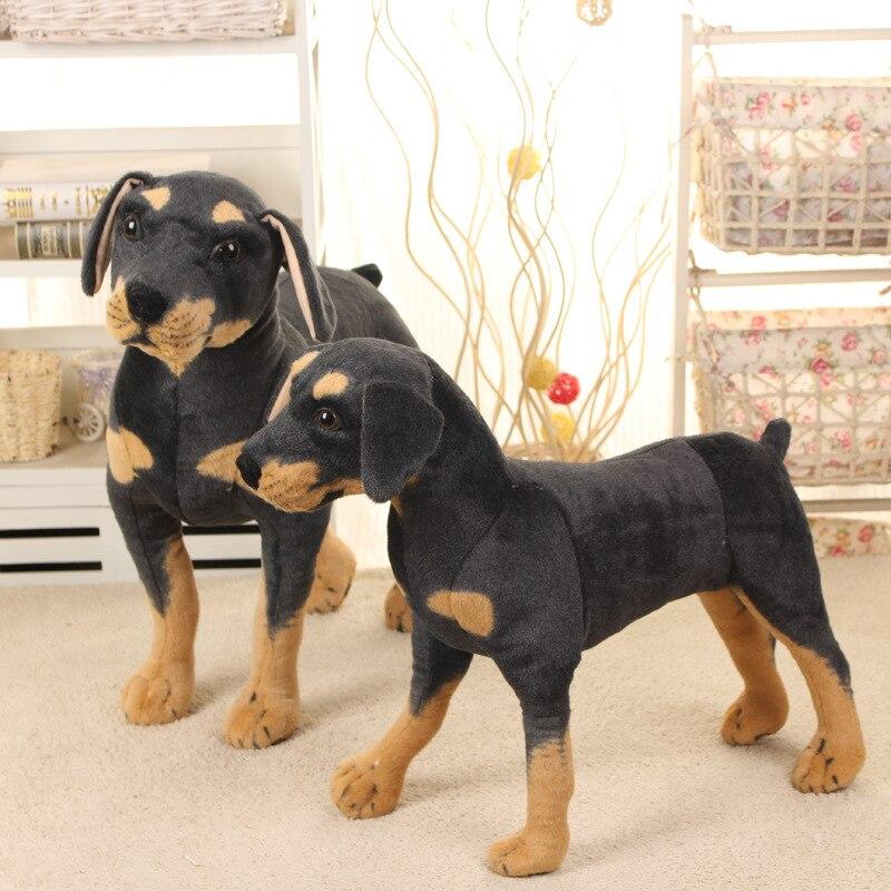 70 cm Kawaii Super grande taille en peluche en peluche vraie vie chien noir jouets enfants énorme peluche animaux poupées bonne qualité cadeaux chaud