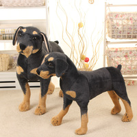 70cm Kawaii Super Big Size Stuffed Plush Real Life Black Dog Toys Kids Huge Stuffed Plush Animal Dolls Good Quality Gifts Hot