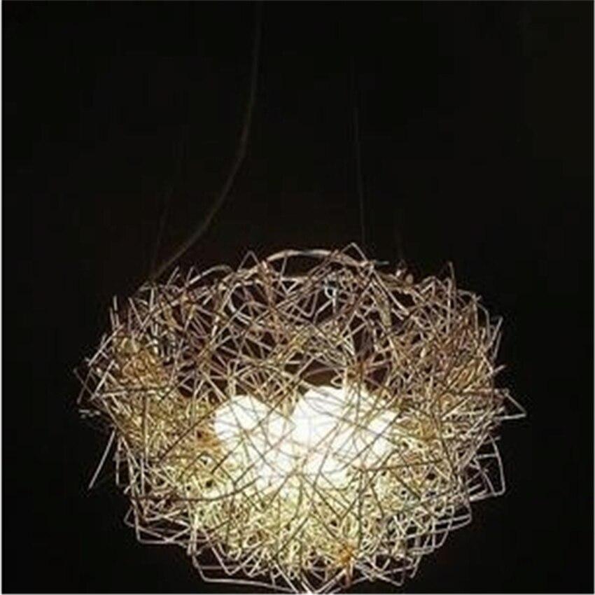 New Aluminum Wire Lamp Aluminum Light Birds Nest Lamp Bird's-nest Lamp Restaurant Pendant Lights Children Bedroom Balcony Bar