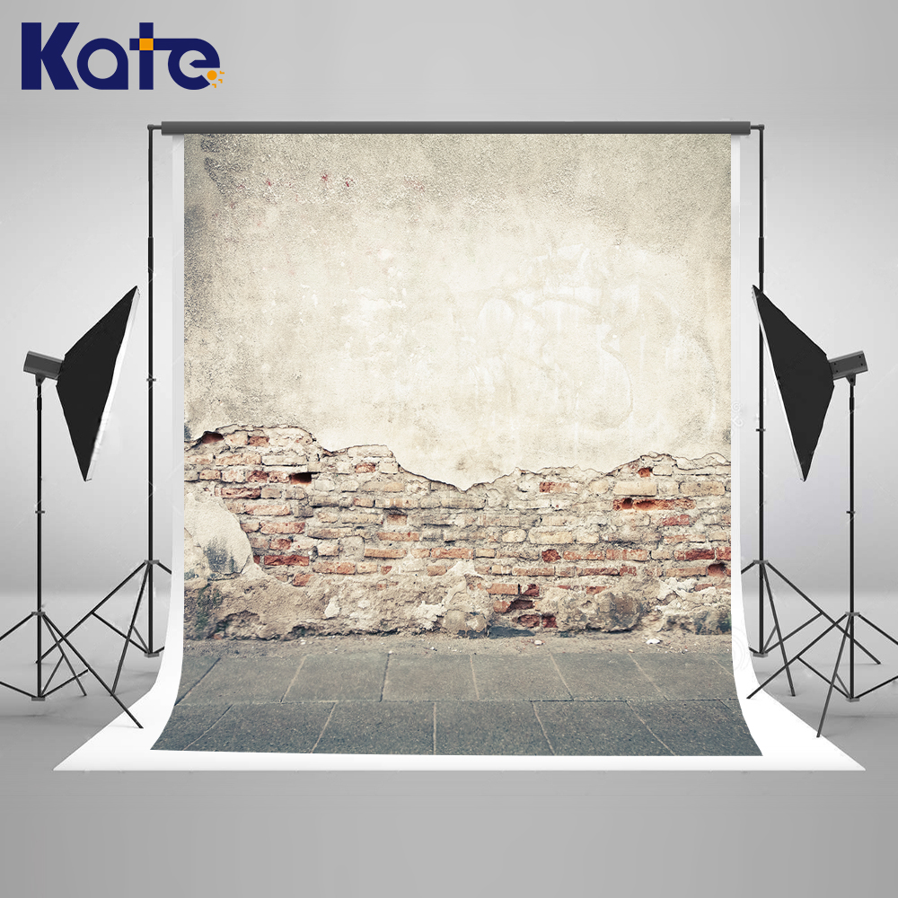 Kate Brick Wall Backdrop Vintage Mottled Wall Naked Baby Background Washable and Wrinkle Free Photography Backdrop for Studio kate backdrop for photography fundo panlong vase wall 3d baby chines festival photography backdrop background for photo lk 2106