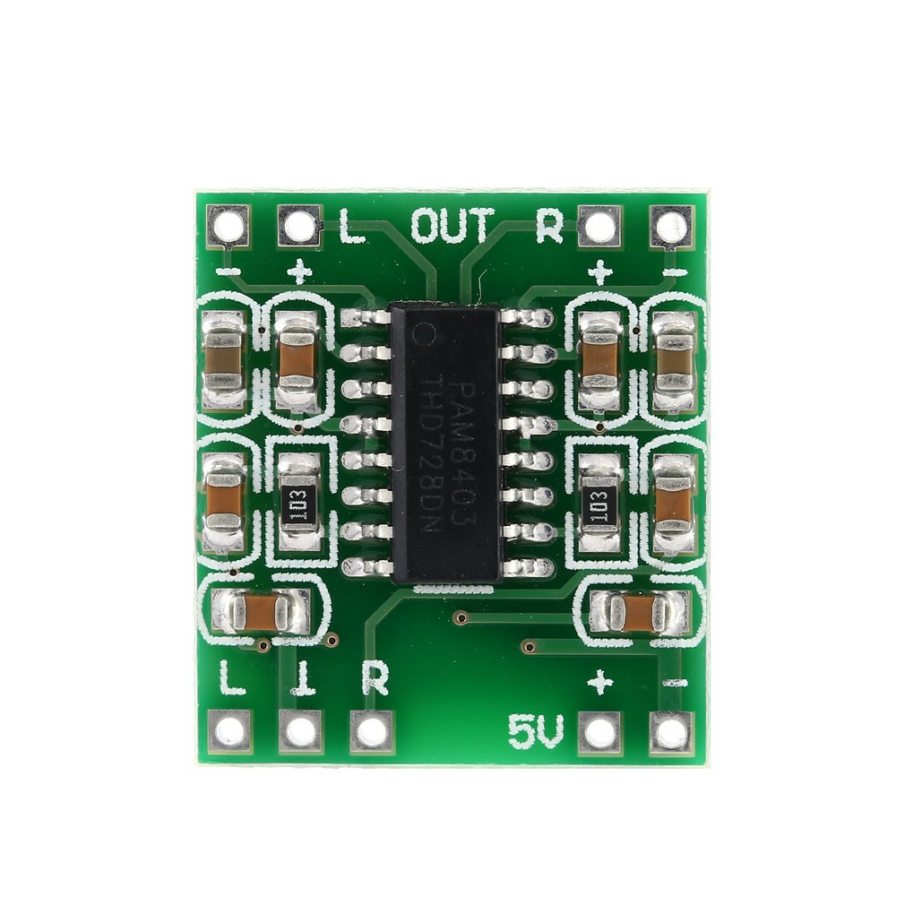 Super Mini Digital Amplifier Board 5V Power Amplifier Board Efficient With Switch Potentiometer USB Supply Power PAM8403