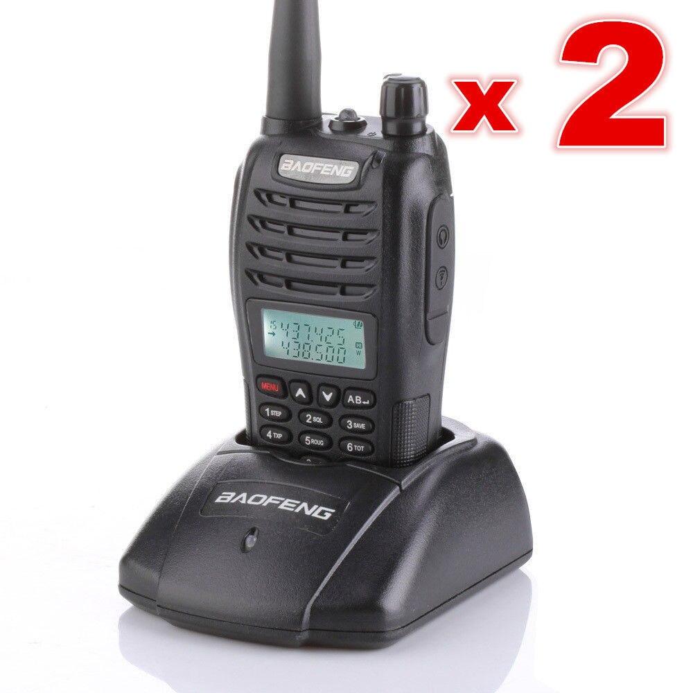 2ピースbaofeng uv b6 vhf/uhf 136 174/400 470 mhzのデュアルバンドラジオトランシーバー新しい  グループ上の 携帯電話 & 電気通信 からの トランシーバー の中 1