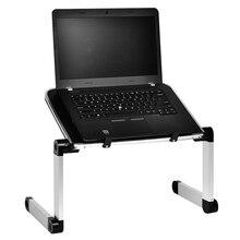Alüminyum alaşımlı masa Ultralight taşınabilir katlanır dizüstü bilgisayar masaları çekyat ofis Laptop standı masaüstü bilgisayar dizüstü yatak masası
