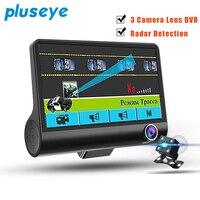 Pluseye 2018 New Radar Detector 2 In 1 Car Detector 4 0 Inch Car DVR Camera