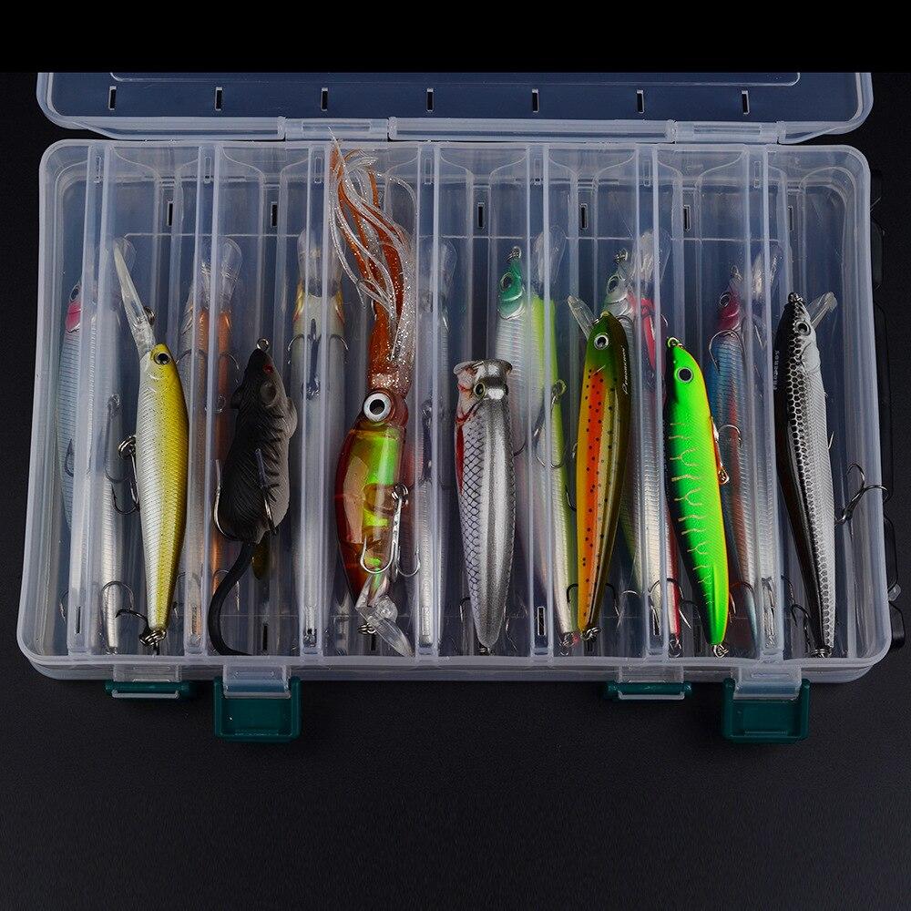 Set de leurres de pêche mixtes cuillère Piler crochets Kit de leurre de poisson en boîte Isca appâts artificiels engins de pêche Pesca - 3