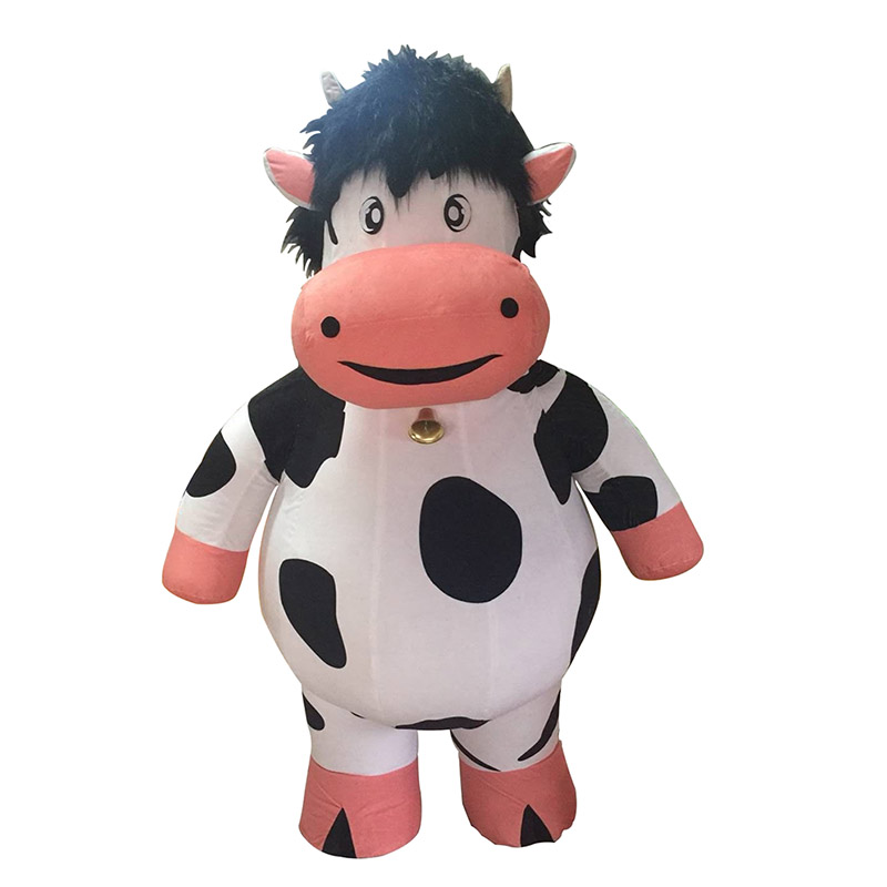 Lovely Cow Mascot Costume For Adult Inflatable Milk Cow Costume Advertising For Adults Customize 2M Tall Halloween Party