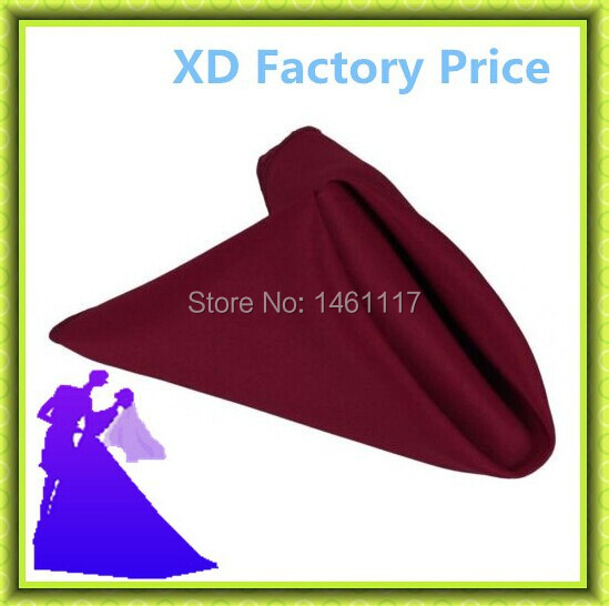 Best selling!!various colors table napkin polyester material used for wedding hotel party cheap price free shipping