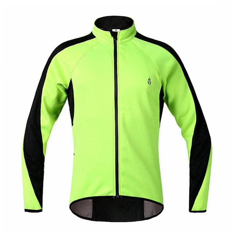 códigos de cupón más popular venta usa online € 32.32 50% de DESCUENTO|Chaqueta de ciclismo de lana termal verde  fluorescente para hombres y mujeres ropa de bicicleta chaqueta de invierno  de ...