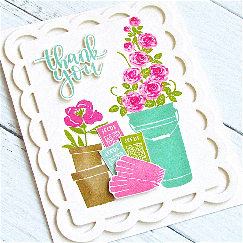 Eastshape Community Garden Metal Cutting Dies Scrapbooking Stamps and Dies Clear Stamps Card Making Album Embossing Crafts Dies in Cutting Dies from Home Garden