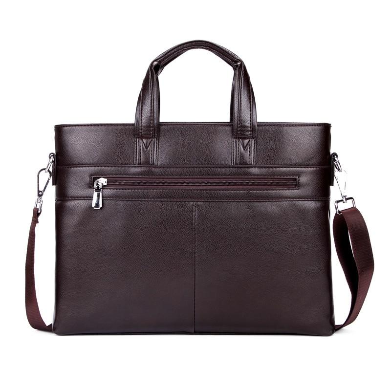 09e4d5f18507 Aliexpress.com   Buy Classic High Quality Leather Business Men Bag  Promotion Briefcase Zipper Style Handbag Single Strap Messenger Bag 6688  from Reliable ...