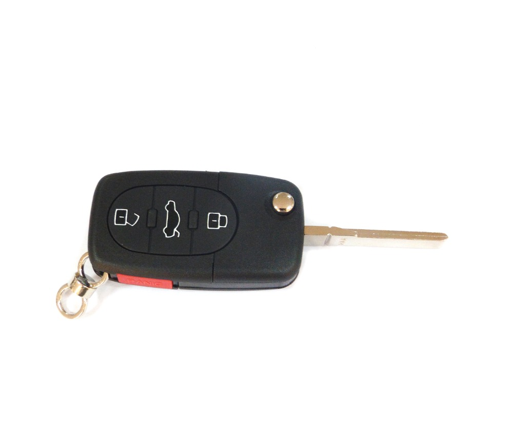 Vw03009 Remote Flip Key Cover Case Fob Shell 3 Buttons