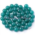 "Free Shipping 10mm Smooth Round Dark Green Jade Gem Stone For DIY Necklace Bracelat Jewelry Making Spacer Loose Beads 15""/ Lot"