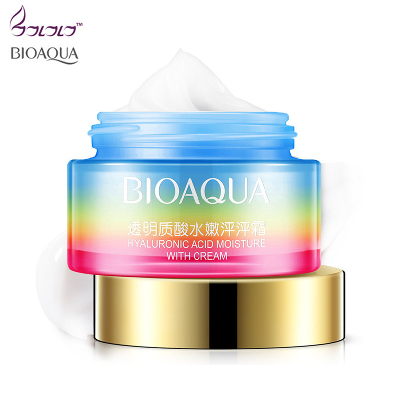 BIOAQUA Hyaluronic Acid Moisturizing Face Cream Skin Care Whitening Ageless Day cream face cream Moisturizing Anti Wrinkles Anti elizavecca witch piggy hell pore control hyaluronic acid 97% moisturizing face cream skin care whitening ageless anti winkles